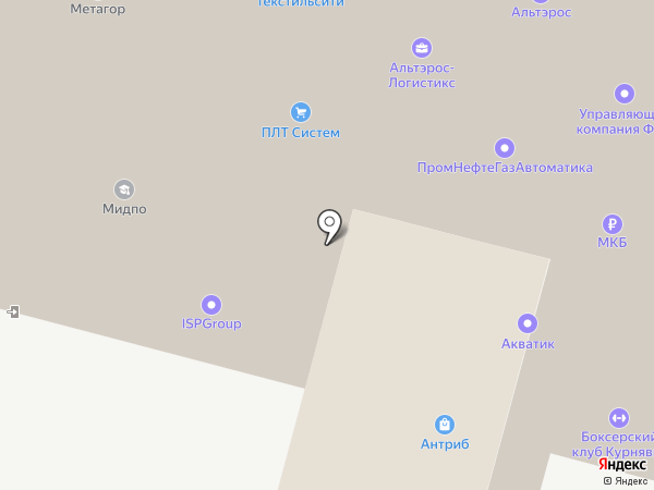 Фрегат на карте Москвы