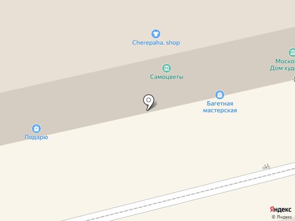 Магазин павлопосадских платков на карте Москвы