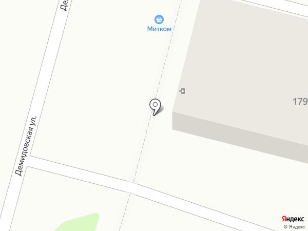 Митком на карте Тулы