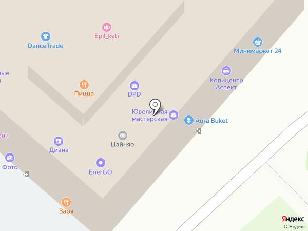 Ателье по ремонту одежды на карте Москвы