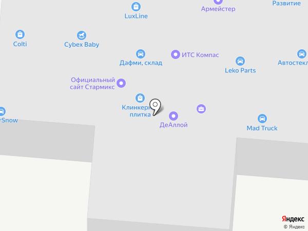 ТК Дафми на карте Москвы
