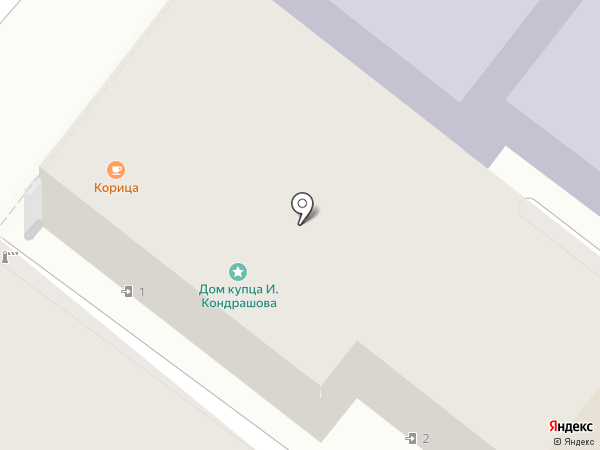 Корица на карте Тулы