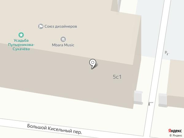 Мотив на карте Москвы