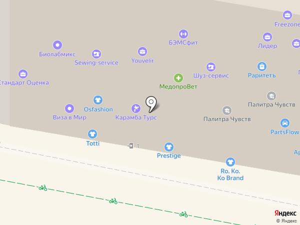 5Fit на карте Москвы