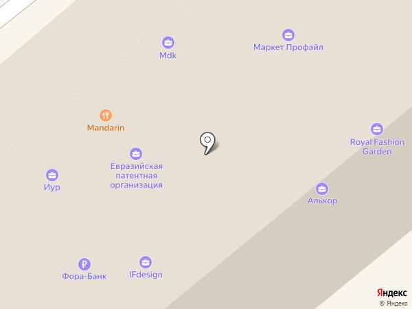 Ассоциация компаний интернет торговли на карте Москвы
