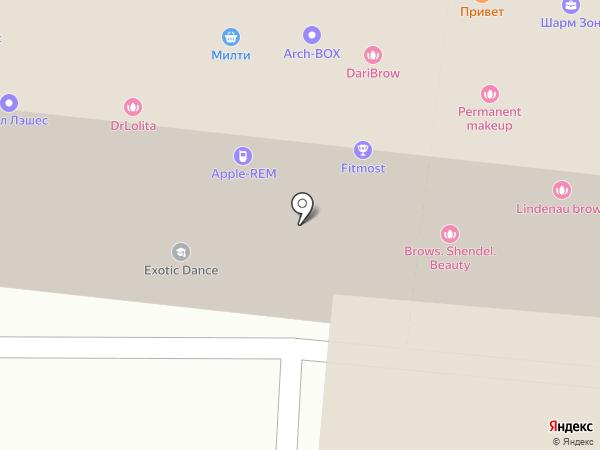 Аэрофлот Premium на карте Москвы