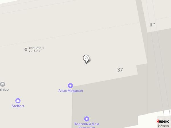 Аллотелеком на карте Москвы