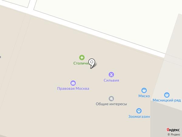 Общие интересы на карте Москвы