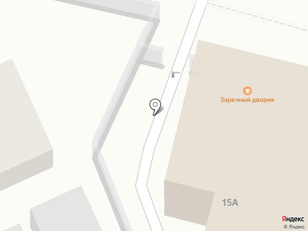 Заречный дворик на карте Тулы