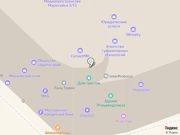 Арифмометр на карте Москвы