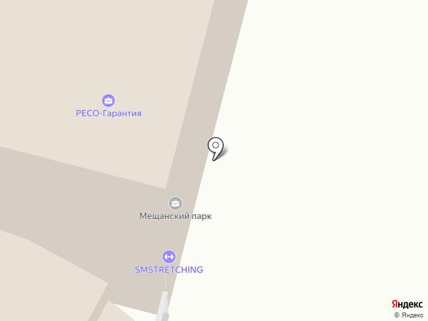 Мещанский парк на карте Москвы