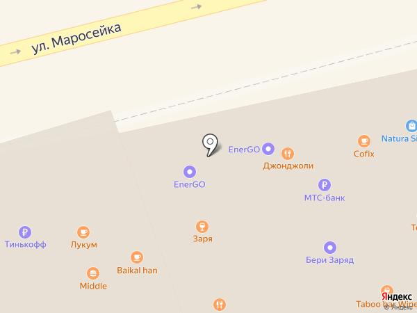 Сеть магазинов табачных изделий на карте Москвы