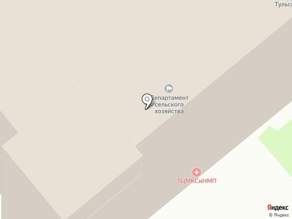 Инспекция Тульской области по государственному архитектурно-строительному надзору на карте Тулы