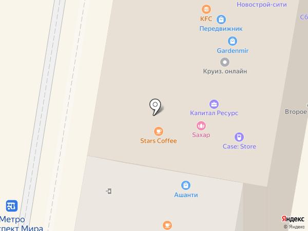 McDonald`s на карте Москвы
