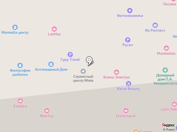 Мокба на карте Москвы