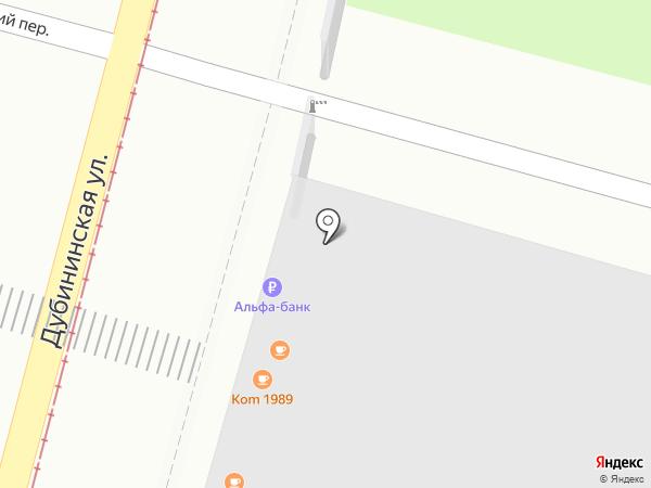 Банкомат, Альфа-банк на карте Москвы