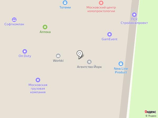 Серенаре на карте Москвы