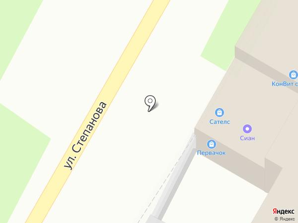 Ниточка на карте Тулы