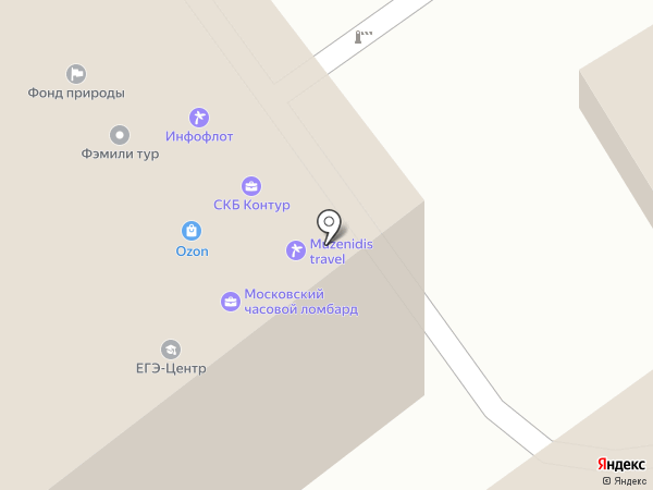 Музенидис Трэвел на карте Москвы