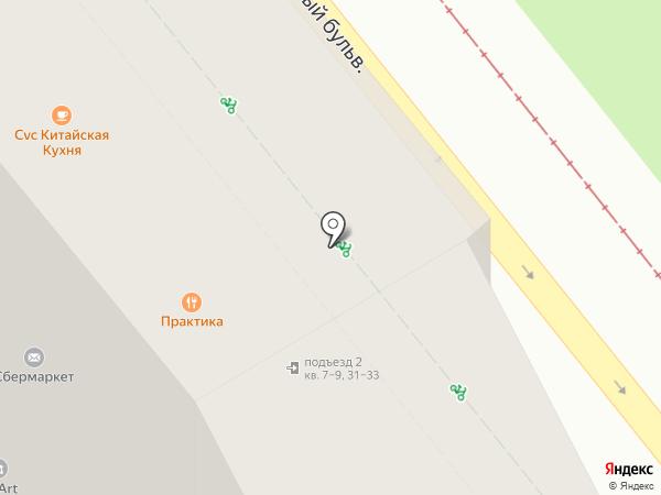 Крафтмен на карте Москвы