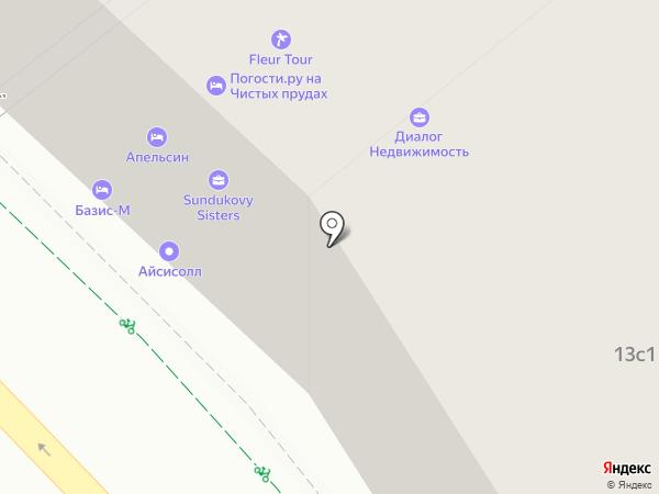 Градиент на карте Москвы