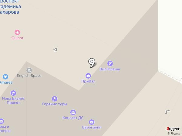 Магазин горящих путевок на карте Москвы