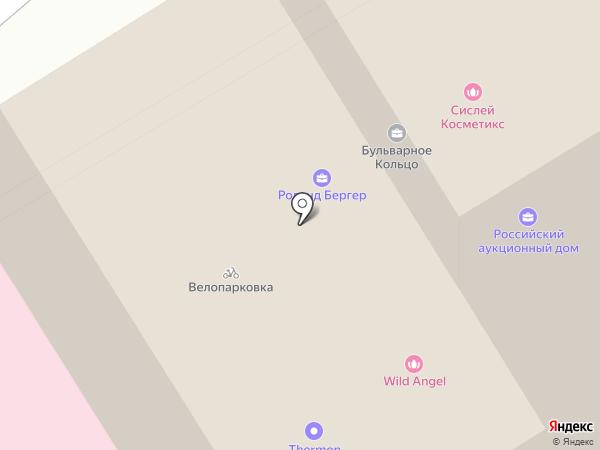 Boulevard Ring на карте Москвы