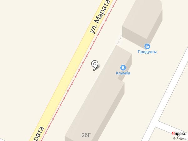 Клумба на карте Тулы