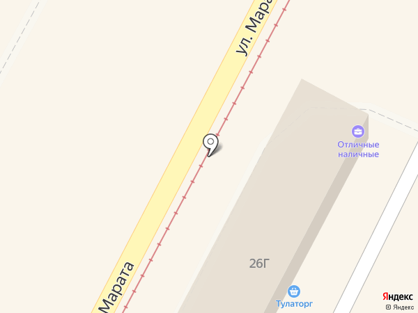 Точка займа на карте Тулы