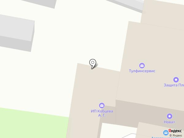 Аконт на карте Тулы