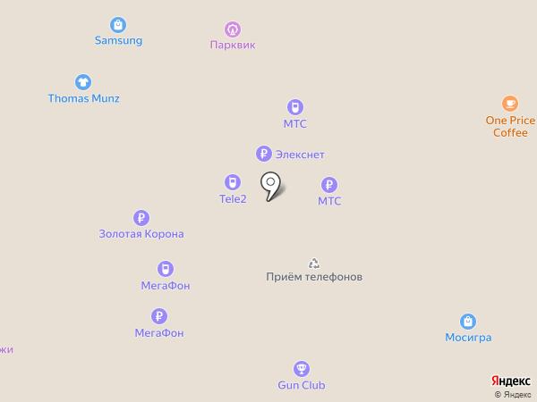 Билайн на карте Москвы