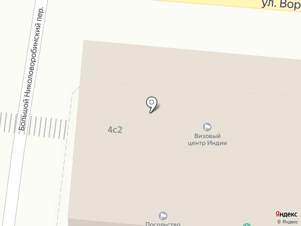 Посольство Индии в г. Москве на карте Москвы