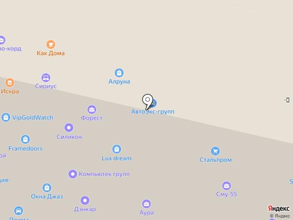 EcoSpline на карте Москвы