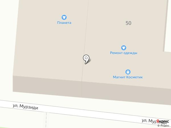 Магазин одежды и подарков на карте Новороссийска