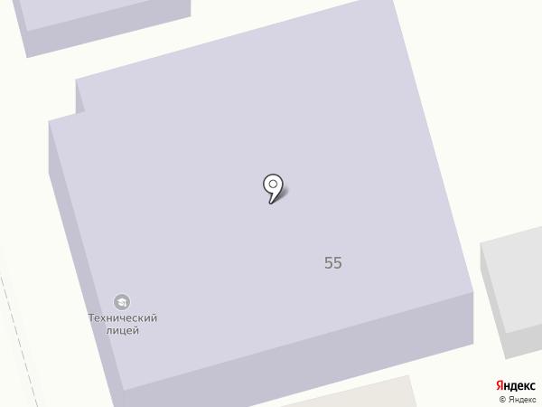Варениковский технический лицей на карте Варениковской