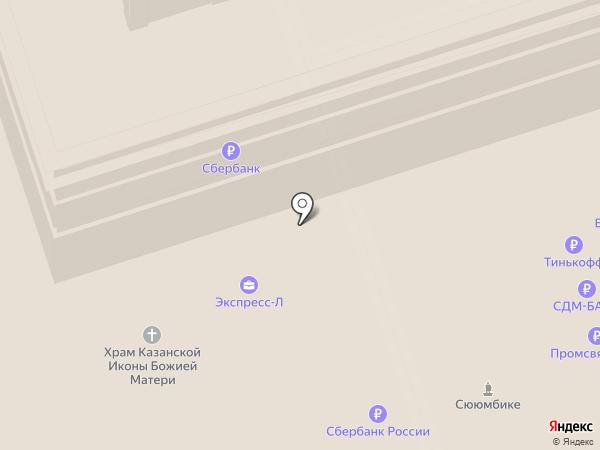 Contento на карте Москвы