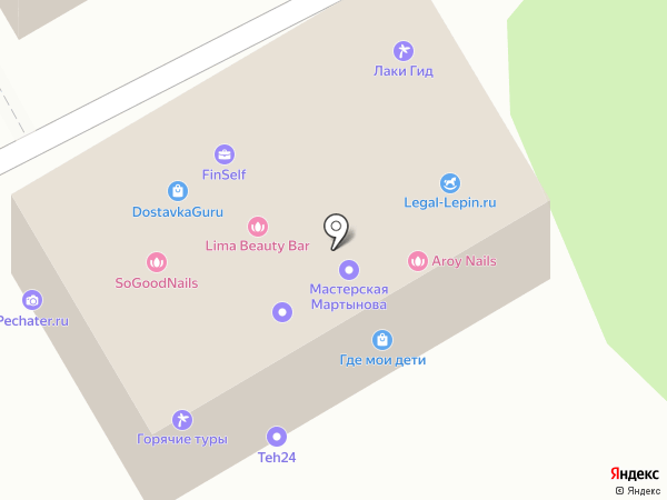 Лаки Гид на карте Москвы