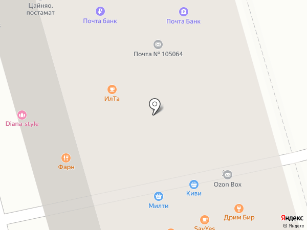 Почтовое отделение №105064 на карте Москвы