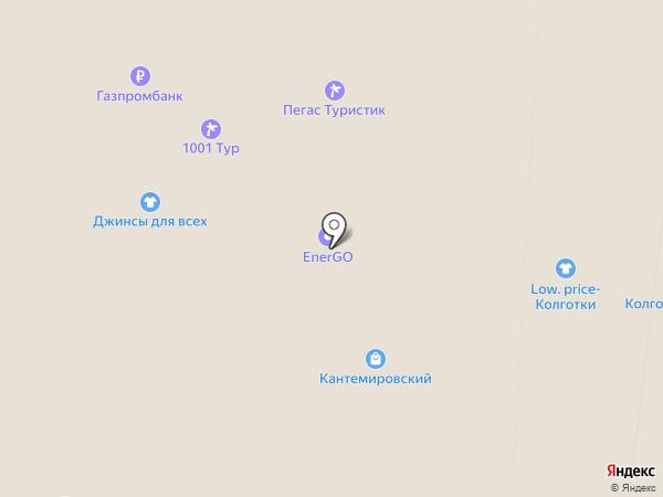 Магазин нижнего белья на карте Москвы