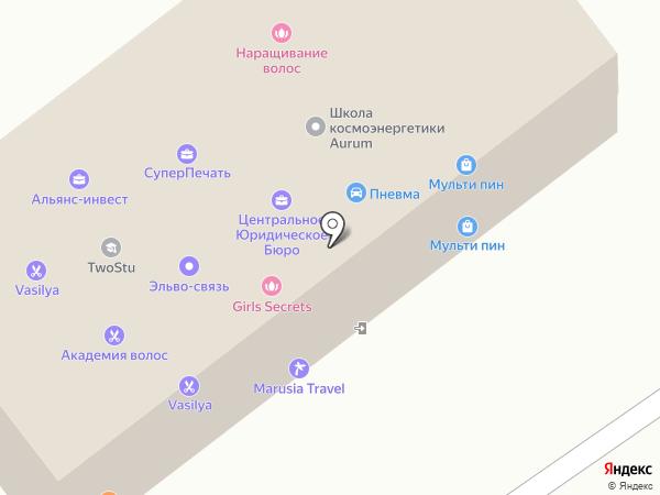 Twostu на карте Москвы