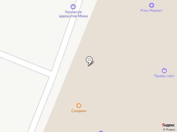 Серебряный Бор на карте Москвы