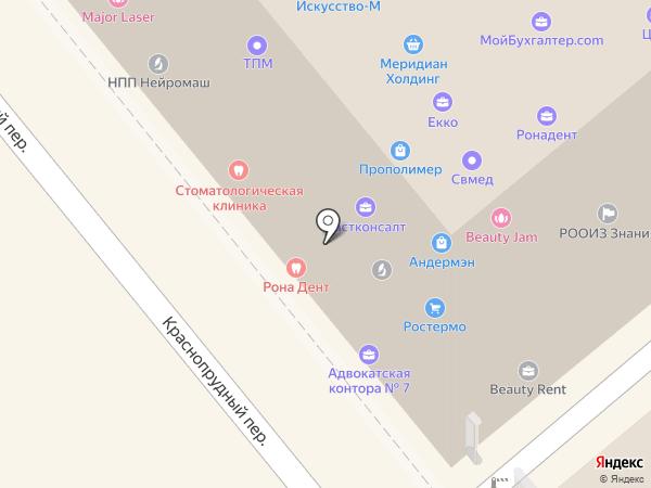 Хрустальный город, АНО на карте Москвы