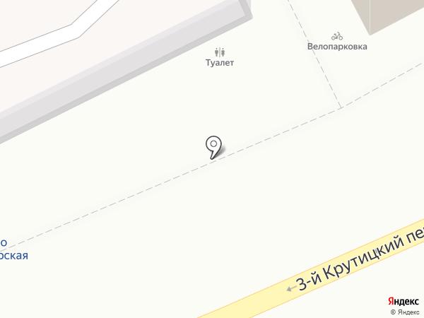 Киоск по продаже печатной продукции на карте Москвы