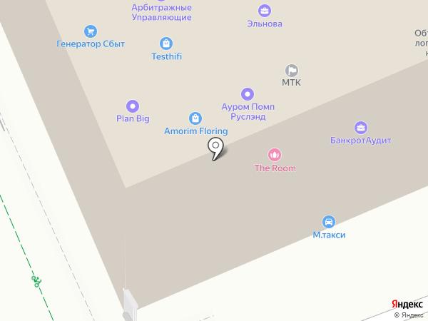 M-Taxi на карте Москвы