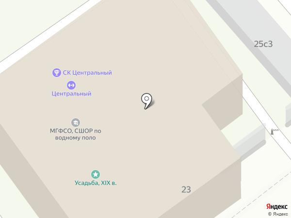 СШОР по водному поло на карте Москвы