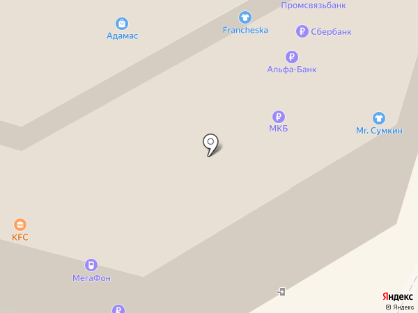 Анахата на карте Москвы