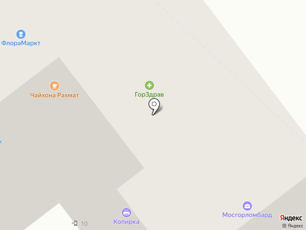 Диалог на карте Москвы