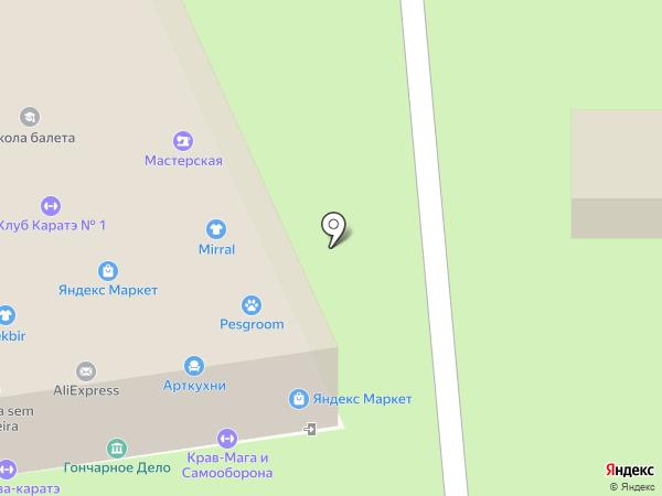 Магазин штор и карнизов на карте Москвы