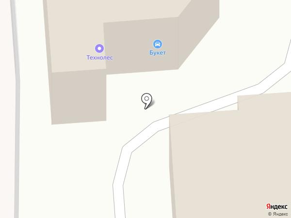 Букет на карте Москвы