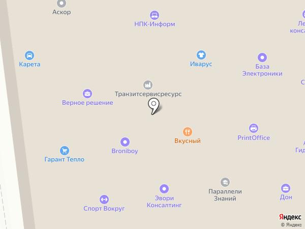 Транзитсервисресурс на карте Москвы